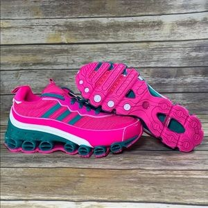 NWT Adidas MicroBounce T1 Shock Green Pink Shoes